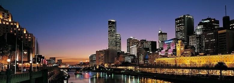 Melbourne Yarra cityscape