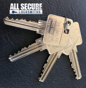 All Secure Locksmiths Restricted Keys